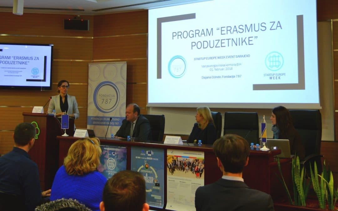 """""""ERASMUS for Entrepreneurs"""" and STARTUP Europe Week"""