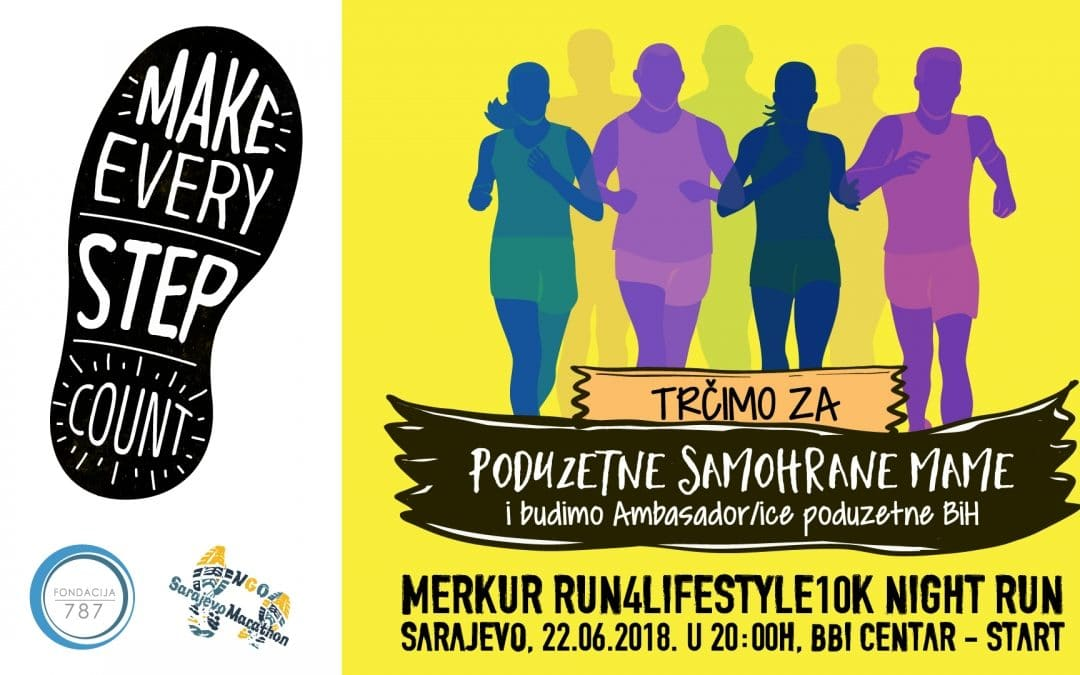 Running for Entrepreneurial Single Moms @ Merkur Run4Lifestyle10K Night Run on 22 June 2018