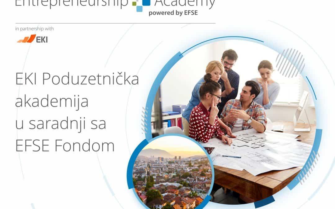 """Otvorene su prijave za """"EKI Poduzetničku akademiju u saradnji sa EFSE Fondom"""""""