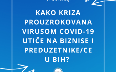 "Research: ""How Does COVID-19 Crisis Affect Entrepreneurs in BiH?"""
