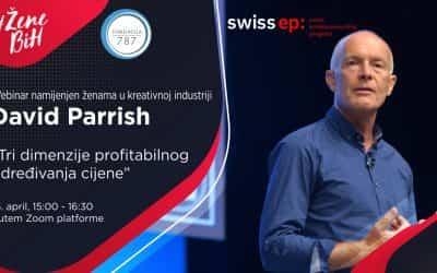 """David Parrish i webinar na temu """"Tri dimenzije profitabilnog određivanja cijene"""""""