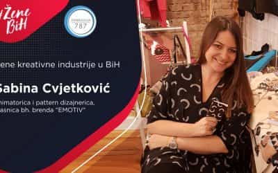 """Sabina Cvjetković – animatorica i pattern dizajnerica, kreatorka bh. brenda """"EMOTIV"""""""