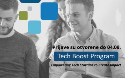 Prijavi se na drugi po redu TECH BOOST predakceleratorski program!