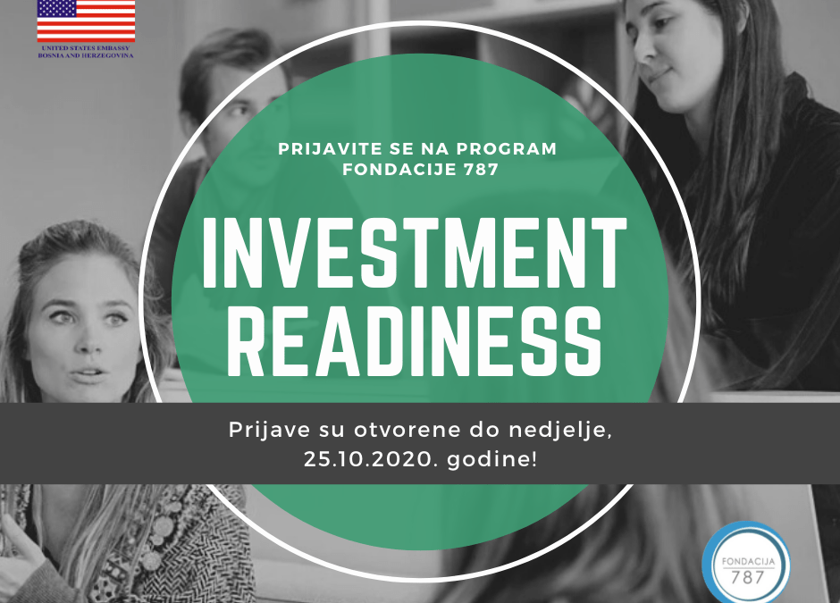 "Prijavite se na prvi ""Investment Readiness"" program u BiH!"