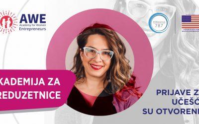 Otvoren poziv za preduzetnice širom BiH: Prijavite se na novi program Američke ambasade u BiH i Fondacije 787 – AWE Akademija za preduzetnice!